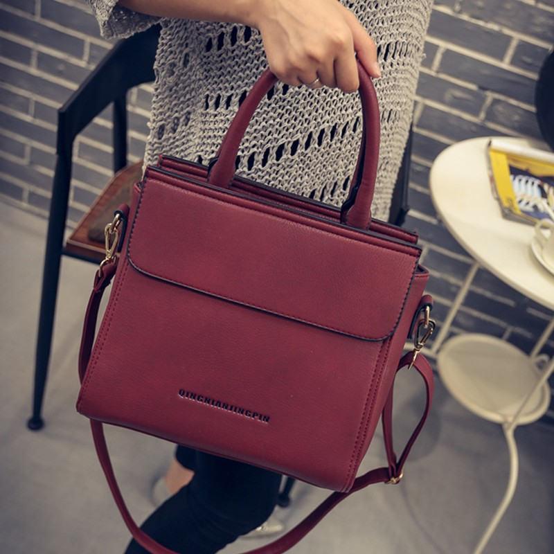 Drawstring Bag 2017 Vintage Handbag Women Handbag Bag Wine Red Brief Free Shipping Superstar Messenger Bag