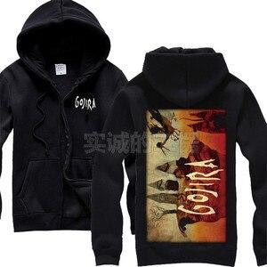 Image 4 - 9 projetos zíper moletom gojira algodão rock hoodies marca escudo jaqueta punk metal streetwear sudadera ilustração mural
