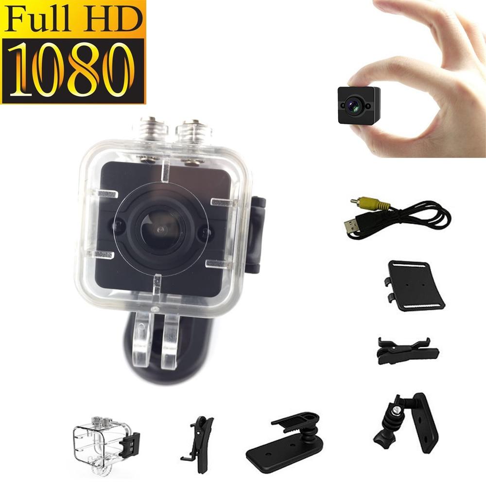 SQ12 HD 1080P Mini Camera Night Vision Mini Camera Sport Outdoor DV Voice Video Recorder Action Waterproof Camera lc 08 mini dv headphone 1080p hd sport dv bluetooth headset stereo neck strap video recorder