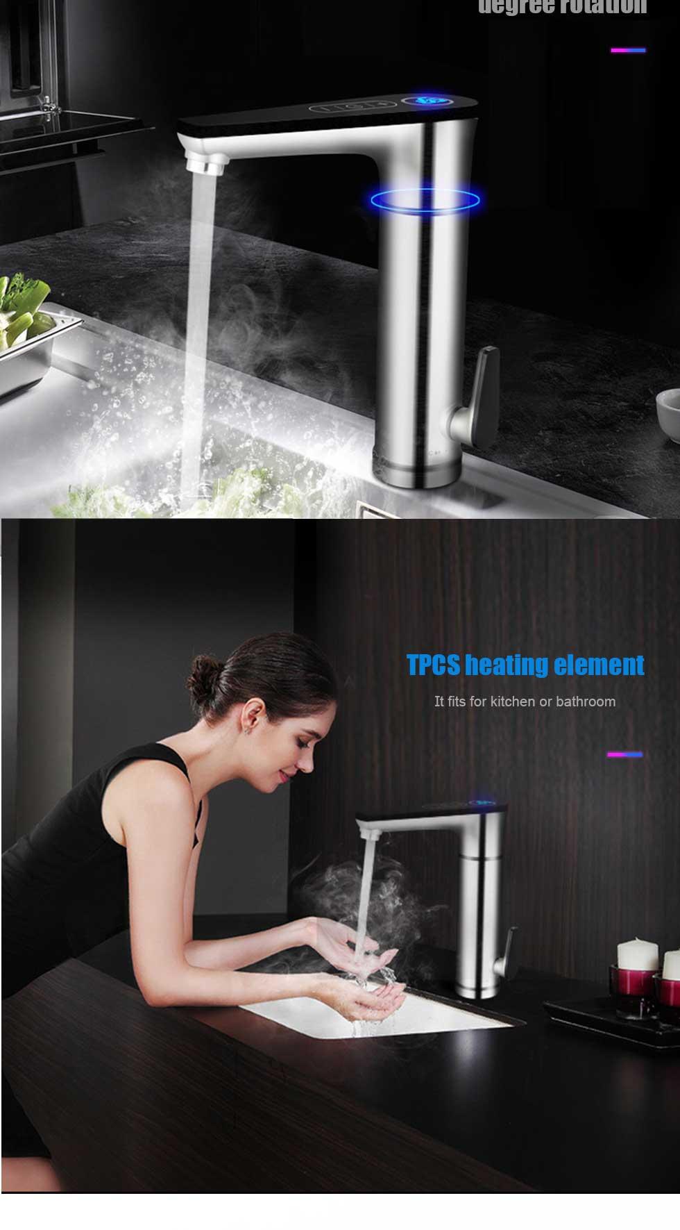 banheiro tankless elétrico toque torneira do banheiro