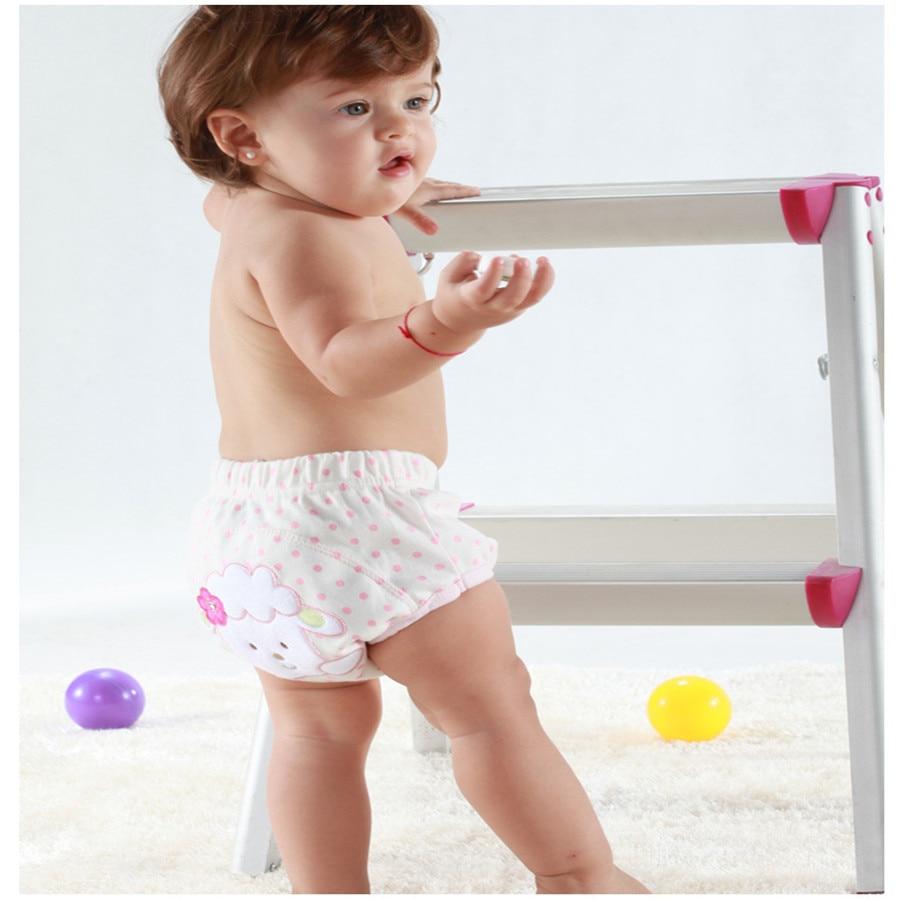 Mode waschbar 4 schichten baby trainingshose windeln junge mädchen pinkeln lernen shorts slip baby tuch windeln