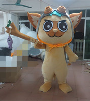 2017 high quality export high quality yellow star cat mascot costumes Holiday special clothing