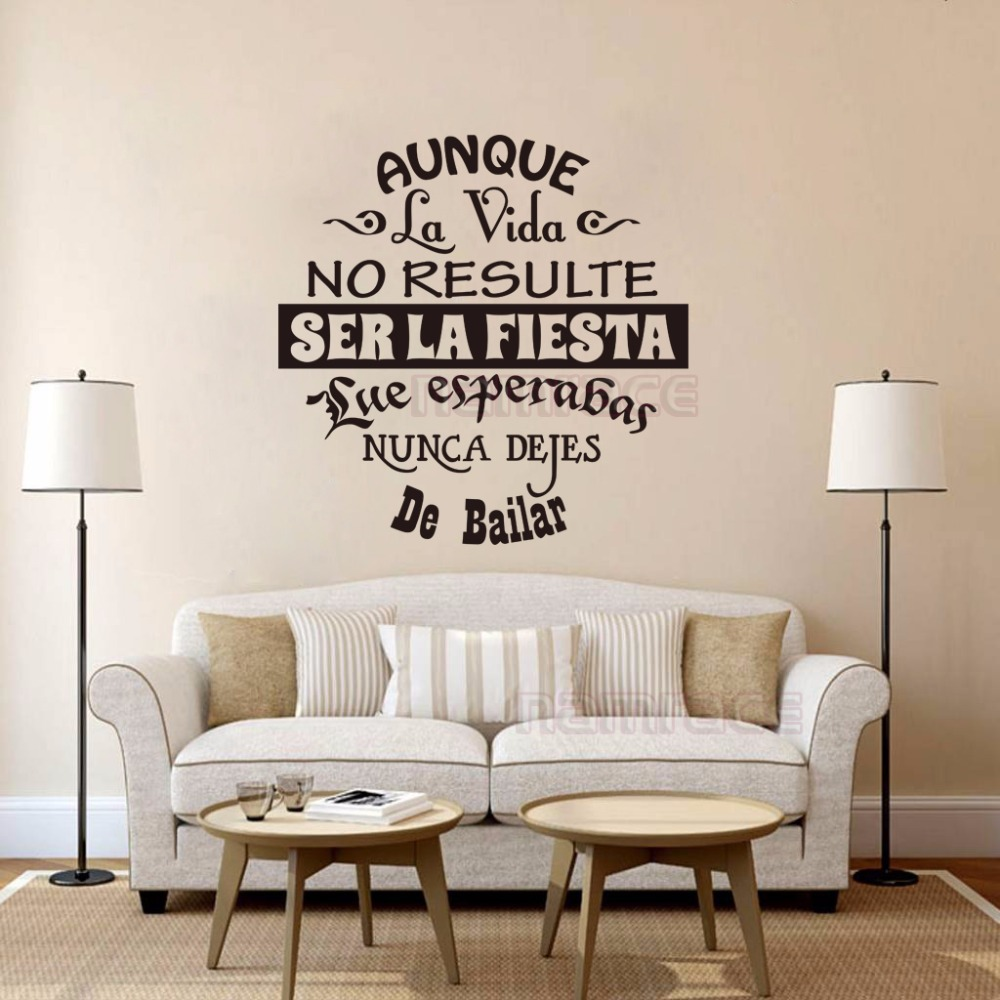 Pretentious Vinyl Wall Stickers Spanish Quotes Letterings Wall Decals Art Sticker Homedecor Wallpaper Living Room House Decoration Wall Stickers Fromhome Vinyl Wall Stickers Spanish Quotes Letterings