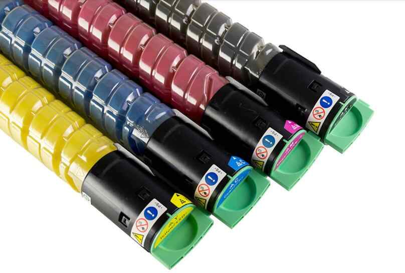 4 PC/set baru Warna Toner Cartridge printer cartridge kompatibel untuk ricoh MP C2551 MPC2501 copier toner kit KCMY