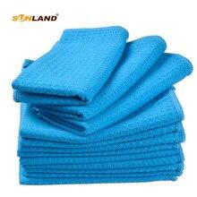 """10-Pack 1"""" x 28"""" микрофибра вафельное плетение кухонные чайные полотенца для сушки посуды полотенца мочалки Полотенца для лица и рук-разные цвета"""