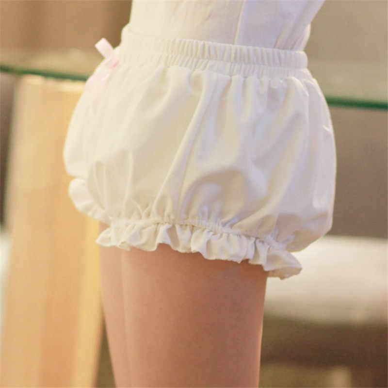Formato libero Del Giappone Harajuku morbido bicchierini delle donne femme feminino Lolita ragazza Kawaii sveglio della zucca Pigiama pantalones cortos di stoffa a casa