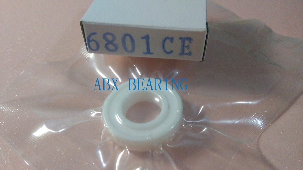 6801-2RS full ZrO2 ceramic deep groove ball bearing 12x21x5mm with seals 61801-2RS bearing 6801 2RS