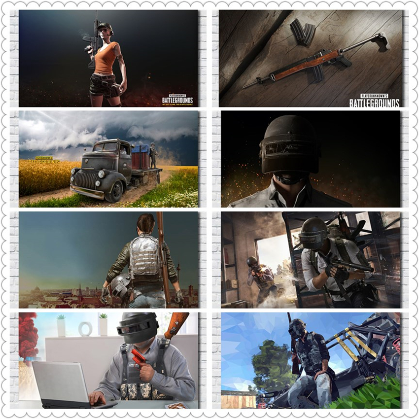 PUBG PS4 Game Poster Painting Poster Print Living Room Home Decor Game HD Nursery Kids Room wall art canvas painting R491 image