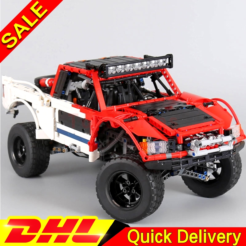Lepin 23013 Genuine Technic Series The Remote-Control Off-road Car Set Building Blocks Bricks Funny legoing Toys As Kids Gifts lepin 20077 genuine technic series the rally car set 42077 building blocks bricks educational funny toys as children gifts