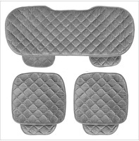 Quality Soft Silk Velvet Car Seat Covers Set For Front Back Seat Chair Black
