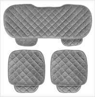 5 assentos de assento de carro tampas conjunto para frente assento de volta cadeira conjunto feminino bonito almofada do assento de carro macio veludo seda
