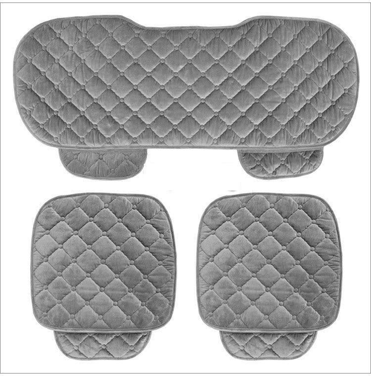 Набор чехлов для автомобильных сидений на 5 сидений, комплект для передних и задних сидений, женский милый набор мягких шелковых бархатных подушек для автомобильных сидений|car seat cover set|seat cover setcar seat cushion | АлиЭкспресс