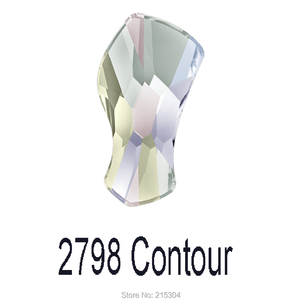 cd34c2988 Swarovski Elements Contour (2798) AB Crystal ( No Hotfix or Hotfix ) Iron  On ( 8mm , 10mm , 14mm ) Flat Back Rhinestones