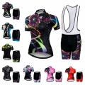 2019 Bike Jersey Set Vrouwen wielertrui Bib shorts Mountian Road Fiets pak racing shirts Ropa Ciclismo bike top bottom roze-in Wielersport setjes van sport & Entertainment op