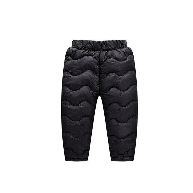 93fff8a3c Girls Boys Down Pants 2018 Winter Children High Quality Lamb ...
