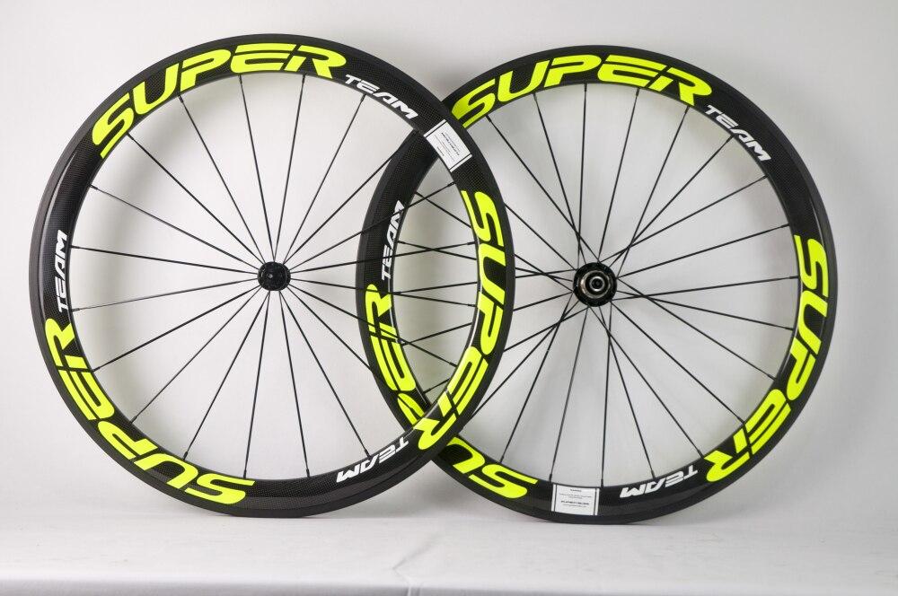 SuperTeam 700C road bicycle wheelset 50mm clincher wheel 25mm Width