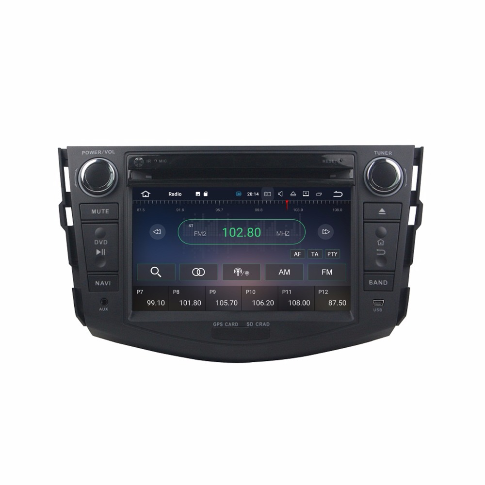 Discount Octa Core 7 inch 8 core Android 9.0 Car Radio DVD player GPS for for Toyota RAV4 2006-2012  gps 4G RAM 64G ROM stereo auto audio 4