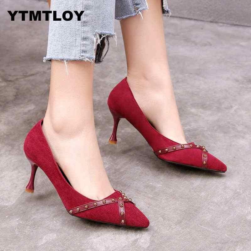f4be58529af ... YTMTLOY nuevos Zapatos de tacón alto para Mujer Zapatos de tacón alto  para fiesta de boda ...