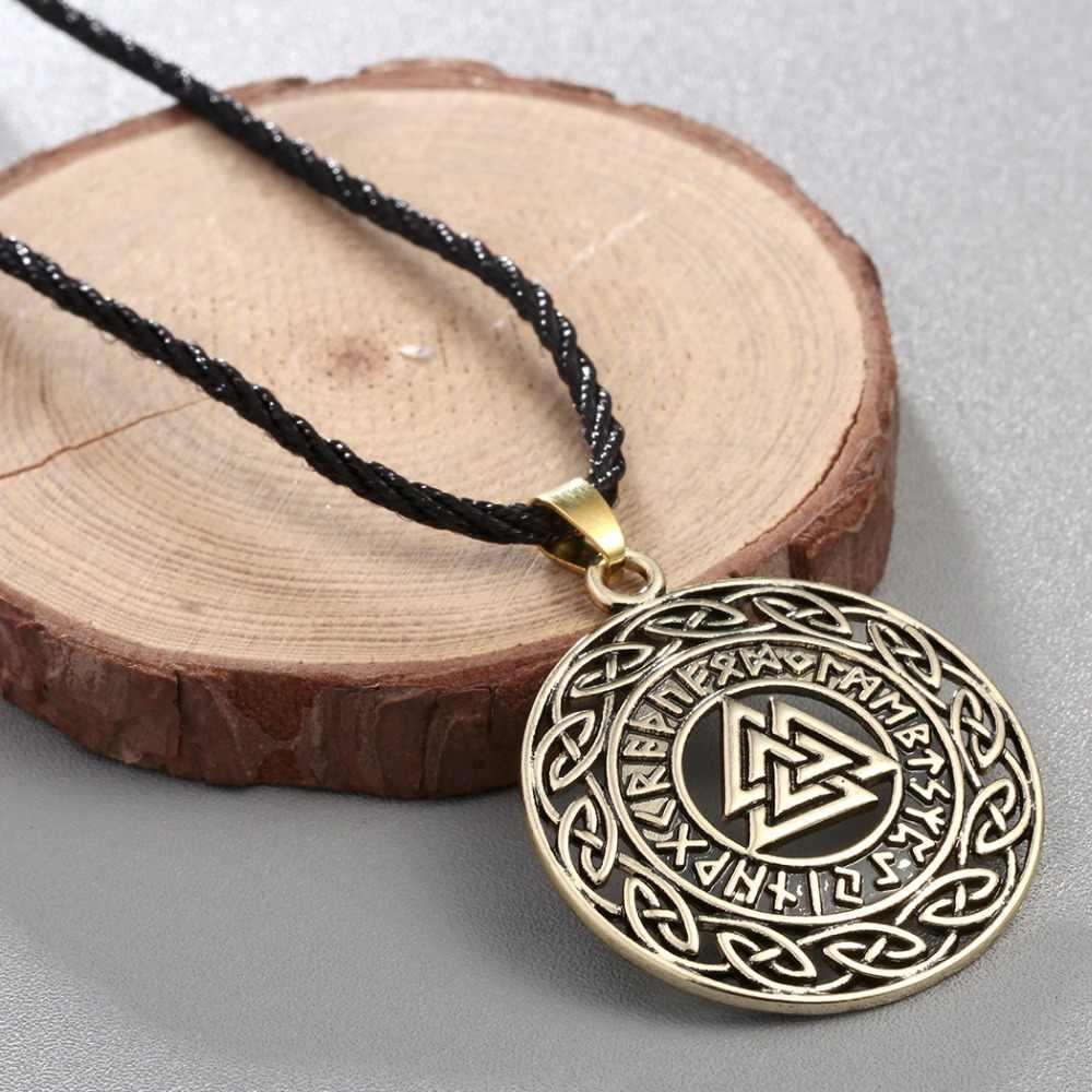 CHENGXUN Celtic Vô Cực Hải Lý/Giờ Chữ Rune Runic Bắc Âu Valknut Người Viking Wikinger Charm Mặt Dây Chuyền Trang Sức