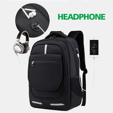 Men Backpack Laptop 15.6 Notebook Womens Mens Travel Business Anti-thef Backpacks Male Bag With Headphone Plug USB Charging Bags