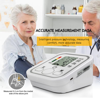 Health Care Household Professional Doctor's Digital Arm Blood Pressure Pulse Tonometer Meter Portable Accurate Home Use Monitor 2