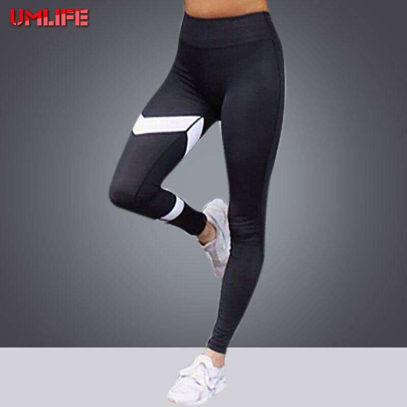 Prix pour UMLIFE Patchwork Blanc De Yoga Pantalon Femmes Taille Haute Imprimer Gym Sport Fitness Leggings Entraînement de Course Collants De Yoga Plus La Taille