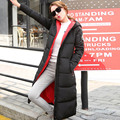 2016 Winter New Arrive Fashion Women Down Cotton Coat Medium Length Thick Warm Women Parkas Collar Hooded Outwear With Glasses