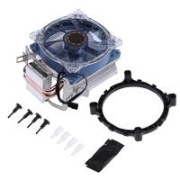 DC 12V 95W 3 Pin CPU Cooler Copper Double Heatpipes Radiator Brass Tower Fan Cooling System