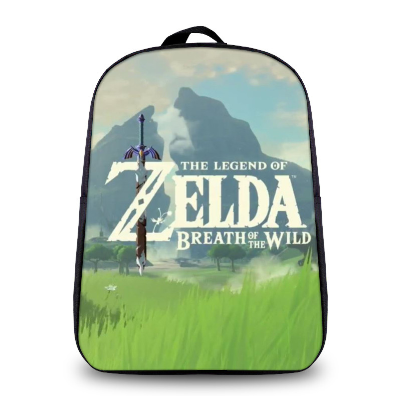 New Fashion The Legend of Zelda Breath of the Wild Cosplay Backpack Cartoon Bag Anime School Bag For Teenage Daily Backpack sosw fashion anime theme death note cosplay notebook new school large writing journal 20 5cm 14 5cm