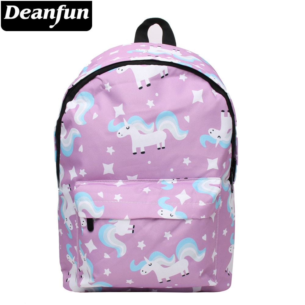 Deanfun Waterproof School Backpack Women Unicorn Bookbag Cute Travel Bag for Teenage Girls Kawaii Knapsack 81030 цена