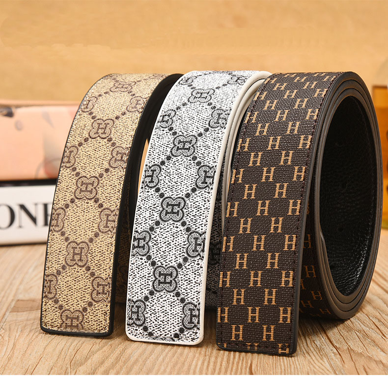 unisex designer   belt   men high quality luxury strap for smooth buckle Genuine Leather   Belts   for men Strap Male cinturon mujer