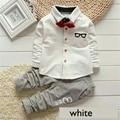 2-7T kids Clothes winter Sets Cotton bow tie T-shirt +Pants Girls Baby boy children Clothes Sport Suits Cute Cartoon Suits