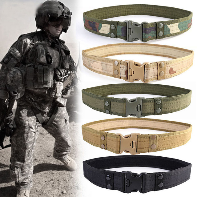 2 Inch Tactical Adjustable Belt Outdoor Hiking Climbing Hunting Load Bearing Utility Waistband Waist Support Belt