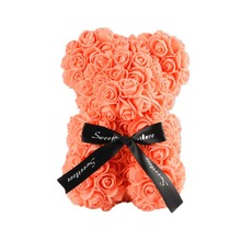 Dropshiping 25cm Bear of Roses Teddy Rose Soap Foam Flower Artificial New Year Gifts for Women Valentines