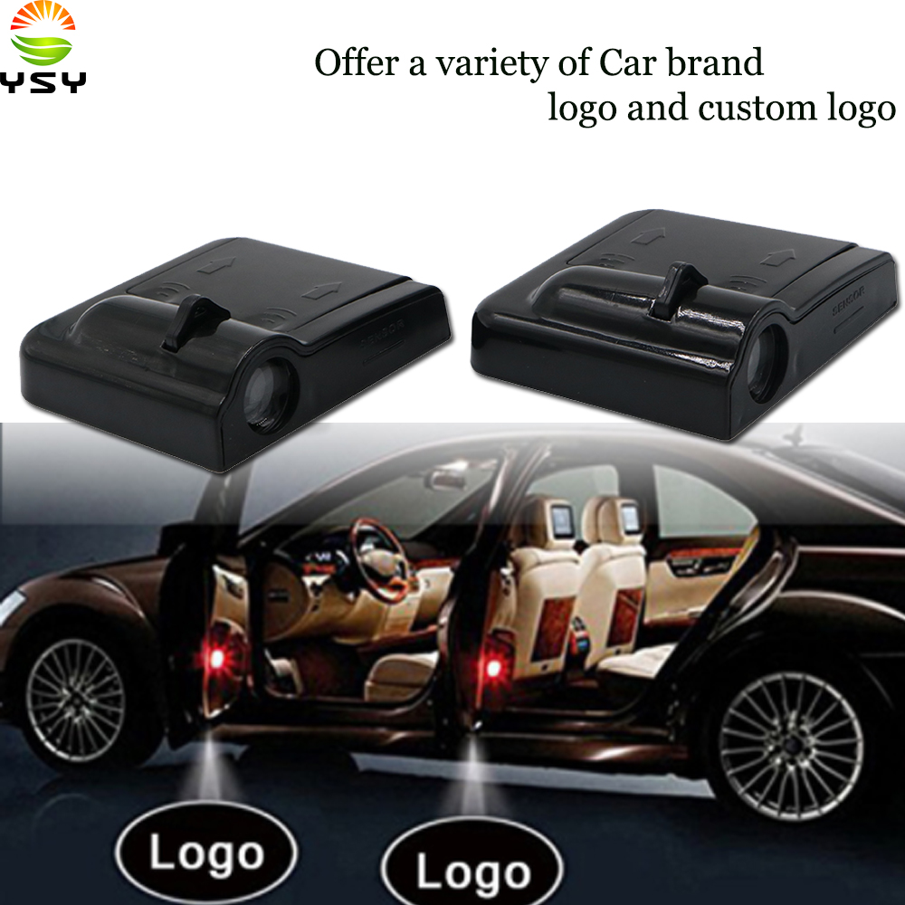 Ysy 2pcs Led Car Door Welcome Logo Light For Peugeot For Nissan Dodge Volvo Volkswagen Ford Benz Projector Ghost Shadow Lamp Automobiles & Motorcycles Car Lights