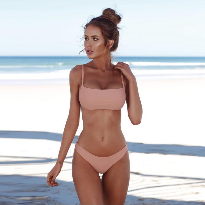 Summer bra set women bandeau bandage bikini set polyester push-up brazilian high quality sexy female underwear lingerie