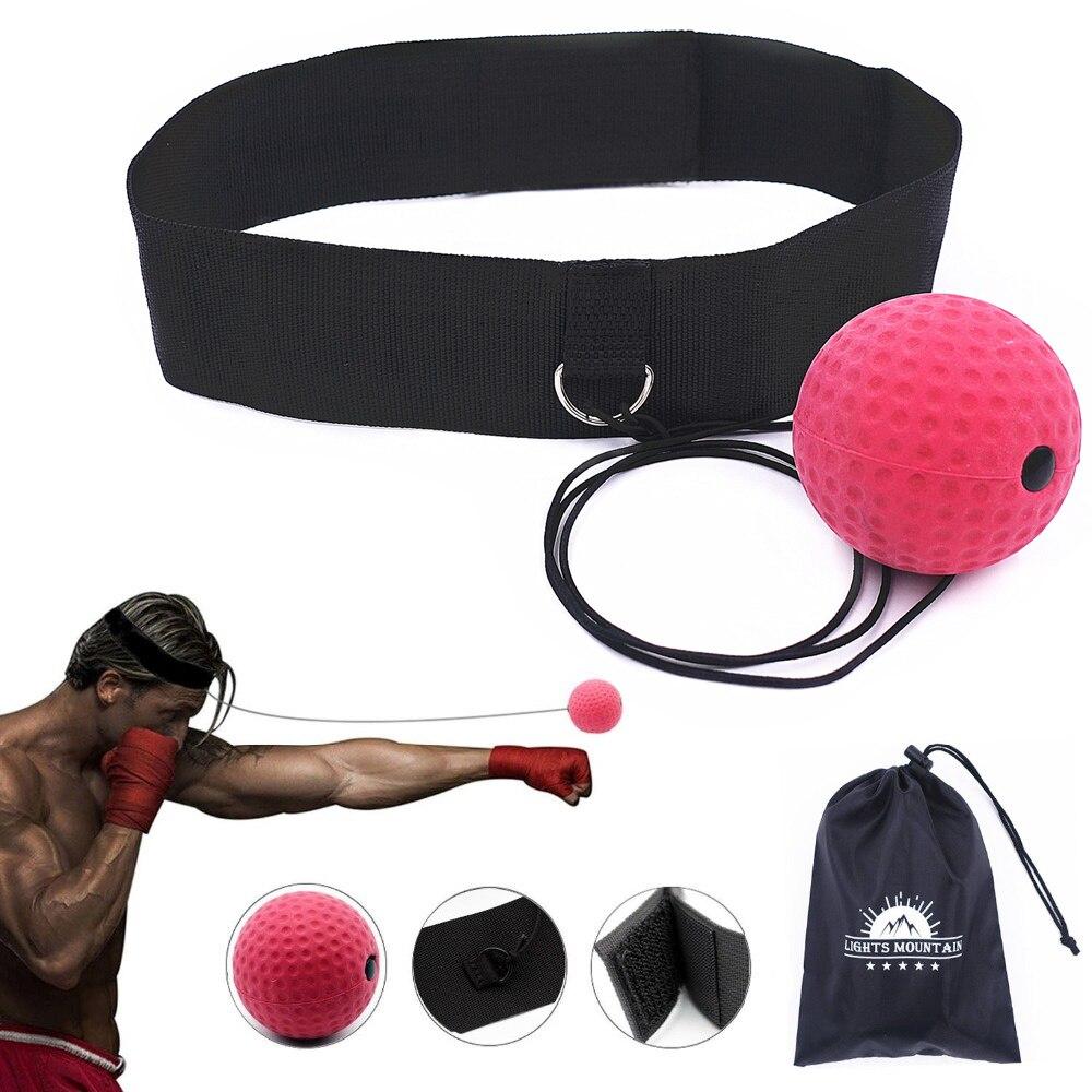Boxeo reflejo velocidad golpe bola formación coordinación de ojo mano con diadema mejorar reacción Muay Thai gimnasio equipo de ejercicio