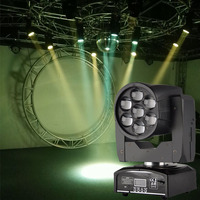 RGBW 4IN1 7x12W Zoom LED Mini Wash/Beam Light DMX512 Moving Head Light Professional DJ Disco Bar Party Show Stage Lighting