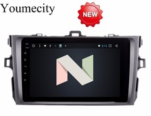 Youmecity Android 7.1 car dvd player for Toyota corolla 2007 2008 2009 2010 2011 in dash 2 din 1024*600 car dvd gps navigation