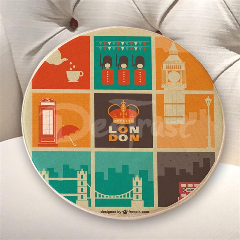 Europos medvilninės patalynės pagalvės Londono apvalios sėdynės - Namų tekstilė - Nuotrauka 4
