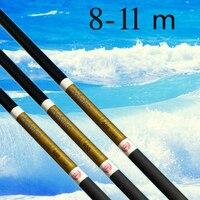 Высокоуглеродный Супер жесткий поток полюс Карп удочка длинная 8 м 9 м 10 м 11 м 12 м большая рыба удочка ультра Легкая ручная палка телескопичес