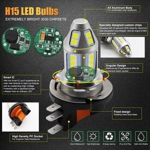 Image 2 - 2pcs H15 LED רכב ערפל מנורת 150W עם מפענח גבוהה כוח 3030 שבב לבן עמיד למים אוטומטי קדמי פנס ערפל נהיגה אורות 12V 24V