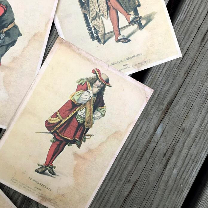 64pcs/lot NEW Vintage Character expression series postcard Gift card Students' DIY tools Office school supplies Wholesale