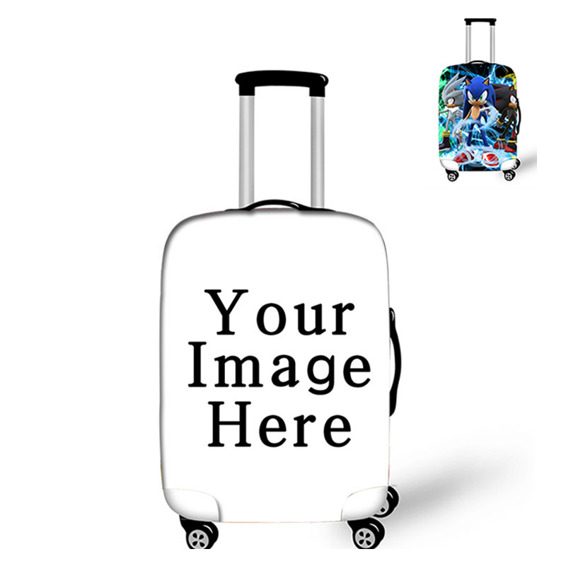 18-32 Inch Customize Your Image / Name / Logo Luggage Cover Suitcase Protective Covers Elastic Anti-dust Case Cover Trolley
