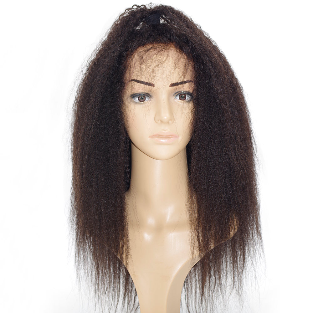 Eversilky Best Italian Yaki 360 Lace Frontal Wig Pre Plucked Peruvian Remy Lace Human Hair Wigs for Black Women 150 Density