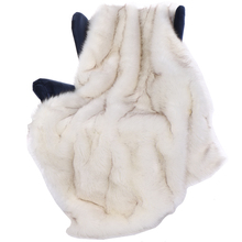 Battilo 51 X 67 Inches Luxury White Fox Faux Fur Throw Blanket