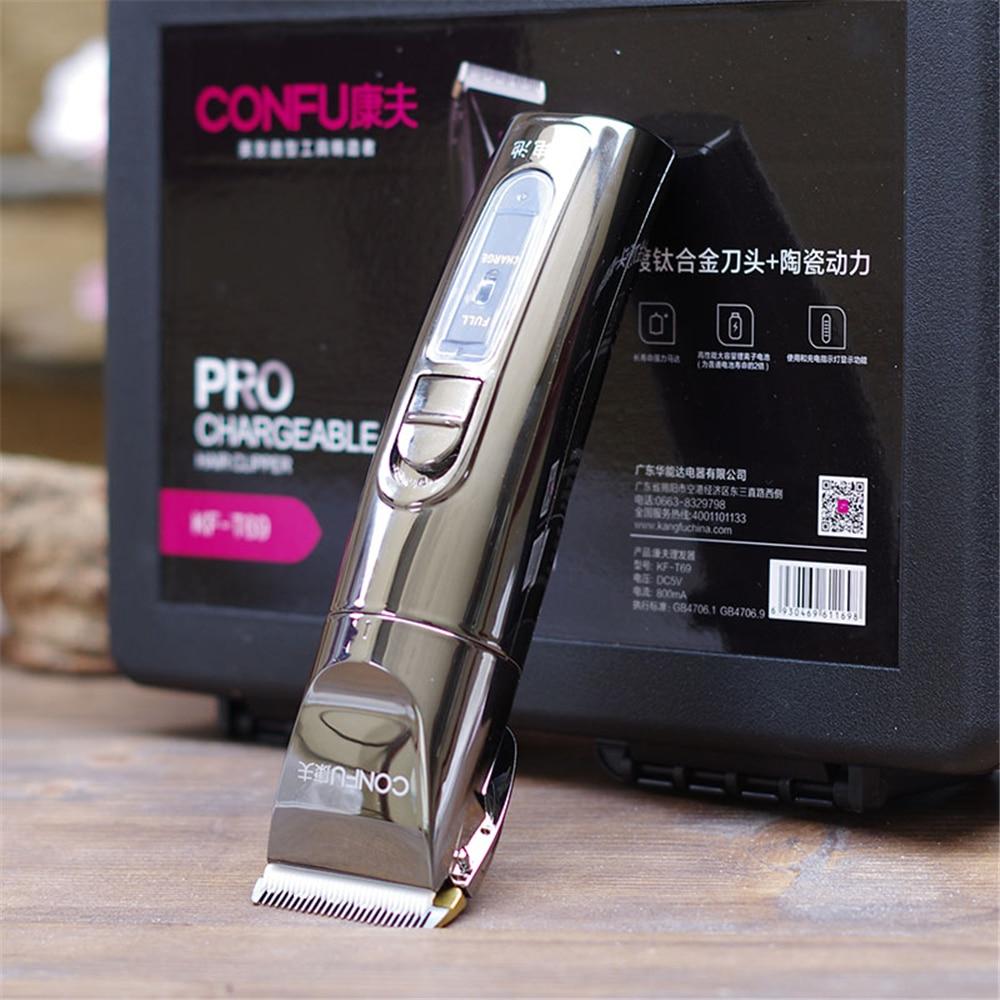 Professional T69 Electric Hair Clipper Titanium Blade Lithium Battery Men s Beard Trimmer Hair Cutting Machine