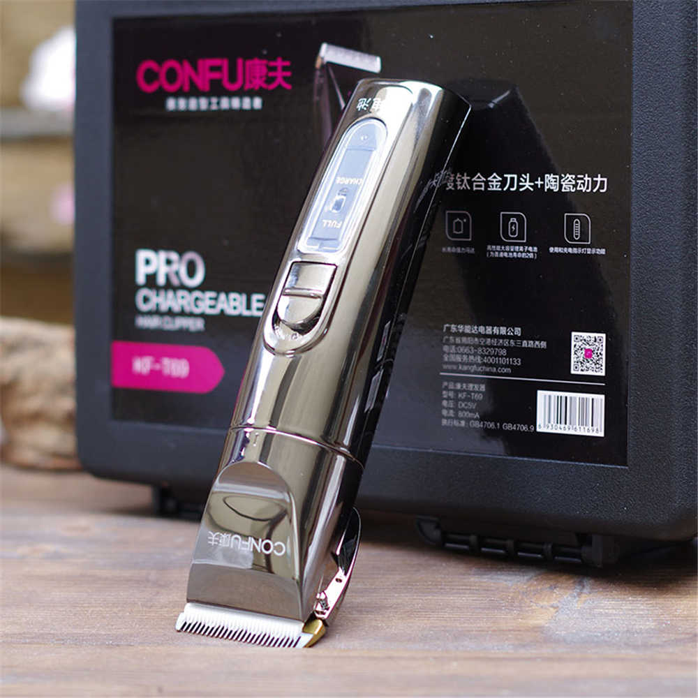 Professional T69 Electric Hair Clipper Titanium Blade Lithium Battery Men's Beard Trimmer Hair Cutting Machine Salon Family Use