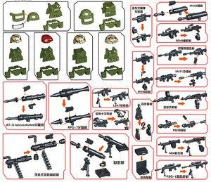 Image 3 - Figuras de bloques de construcción de soldado de camuflaje de la fuerza SWAT, bloques de construcción militares, figuras de bloques, regalo, 6 uds.