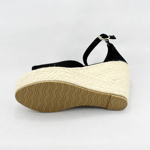 Image 4 - Big Size 32 44 Summer Woman Sandals Shoes Boho Ankle Strap Women Wedge Heels Shoes For Girl Fish Mouth Platform High Heel Sandal